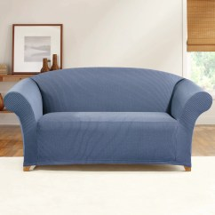 Sure Fit Stretch Stripe 2 Piece Sofa Slipcover Sand Best Modern Sectional Simple Ticking Loveseat