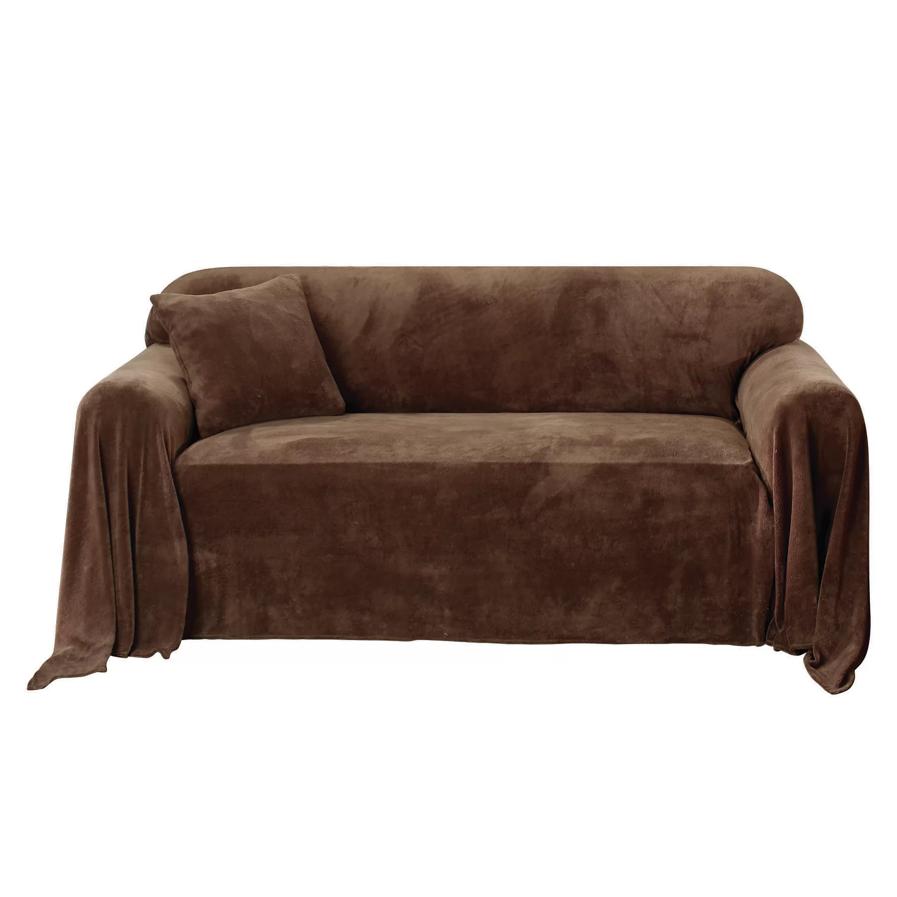plush magnum sofa review tan leather high back sure fit throw slipcover and reviews wayfair