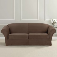 How To Clean Suede Sofa Covers Ashley Durablend Antique Reviews Sure Fit Ultimate Heavyweight Stretch Slipcover