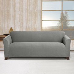Stretch Morgan 1 Piece Sofa Furniture Cover Next Day Reviews Sure Fit Simple Subway Box Cushion Slipcover