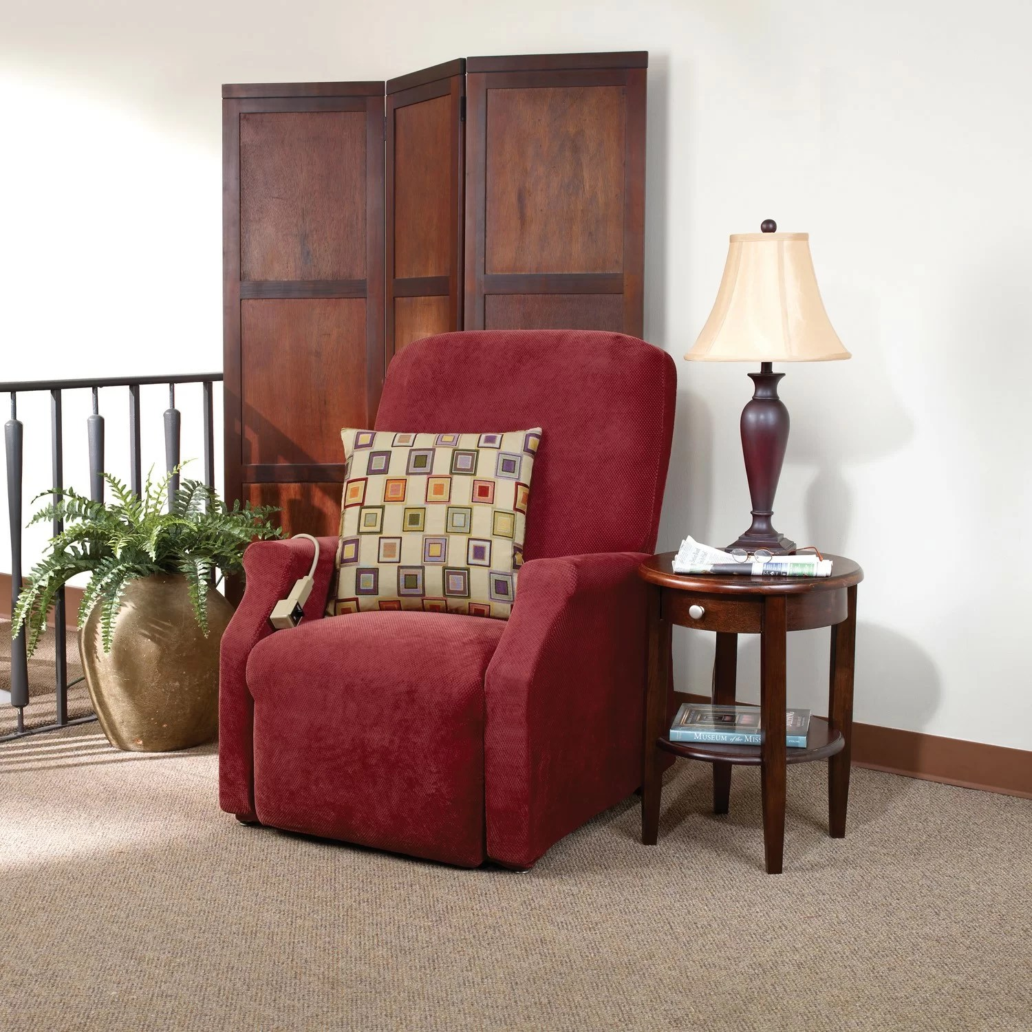 sure fit dining chair covers target large club stretch pique recliner slipcover and reviews wayfair