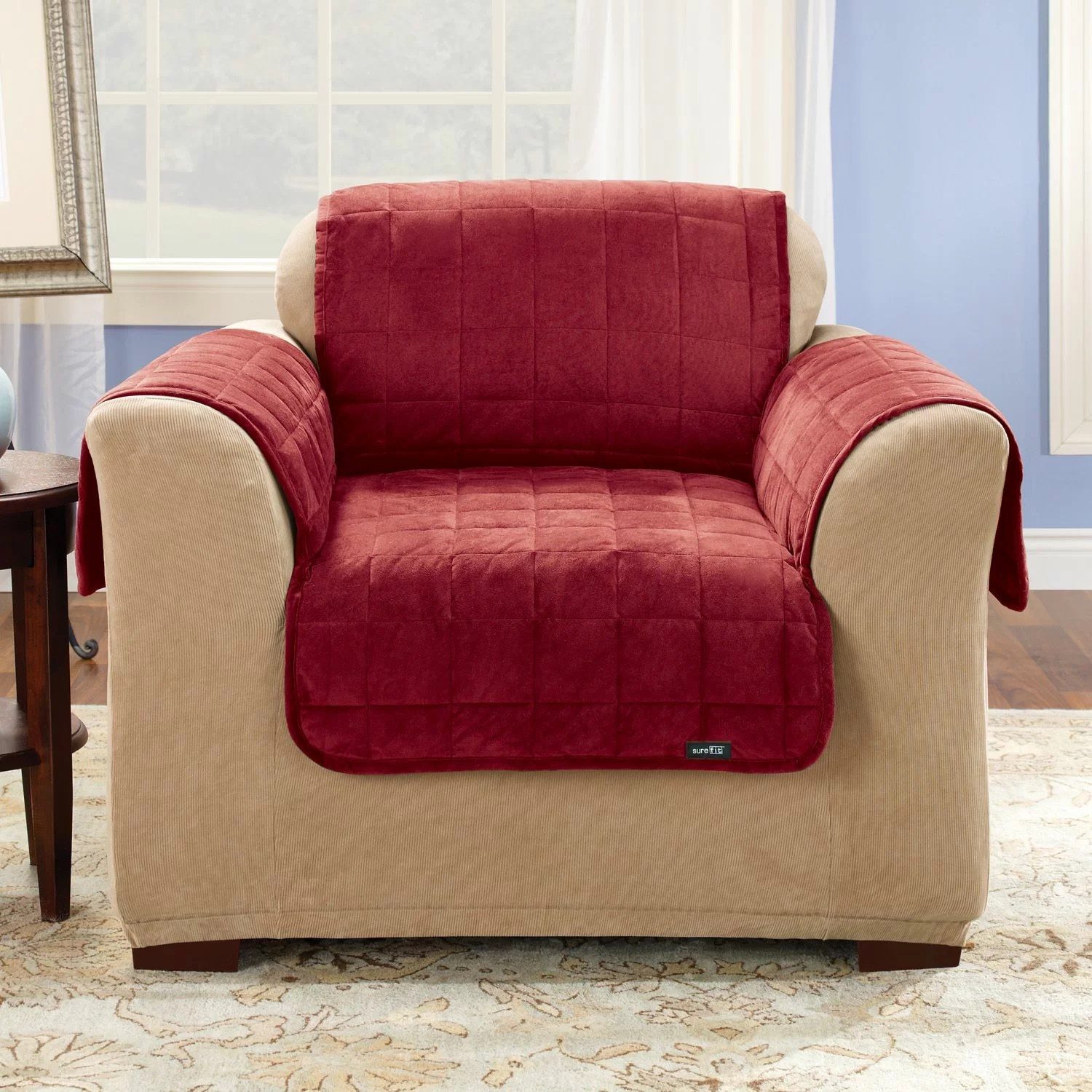 club chair slipcover fishing spare parts sure fit deluxe pet comfort and reviews