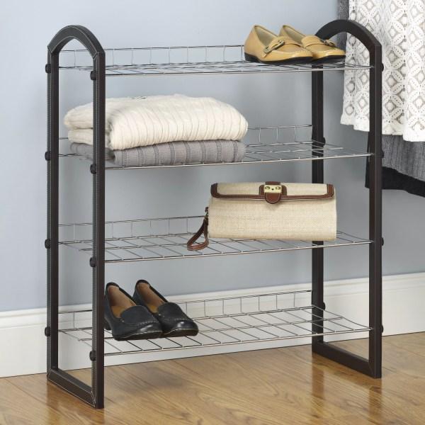 Whitmor 4-tier Shoe Rack &
