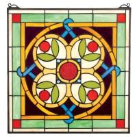 Design Toscano Celtic Floral Quatrefoil Stained Glass ...