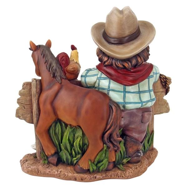 Western Cowboy Statue Figurine