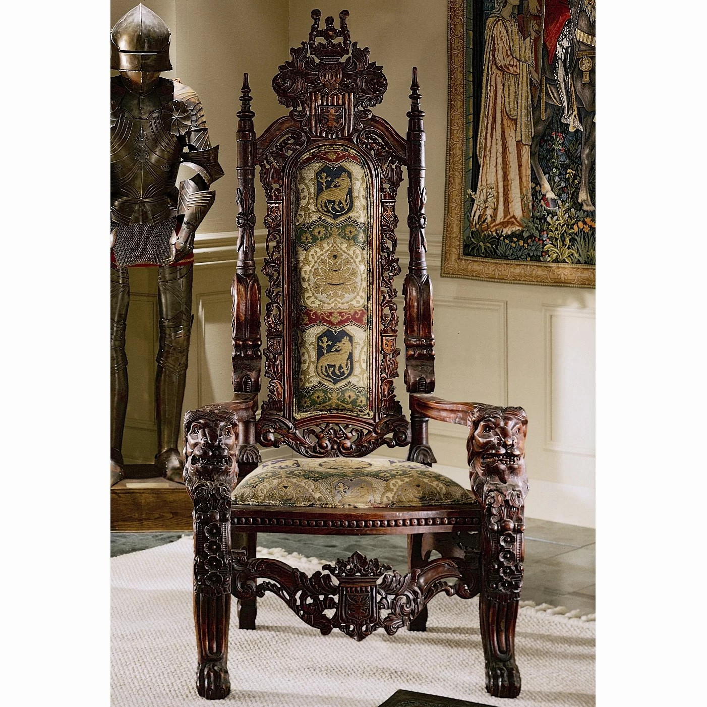 game of thrones office chair design outdoor toscano the lord raffles lion throne fabric arm