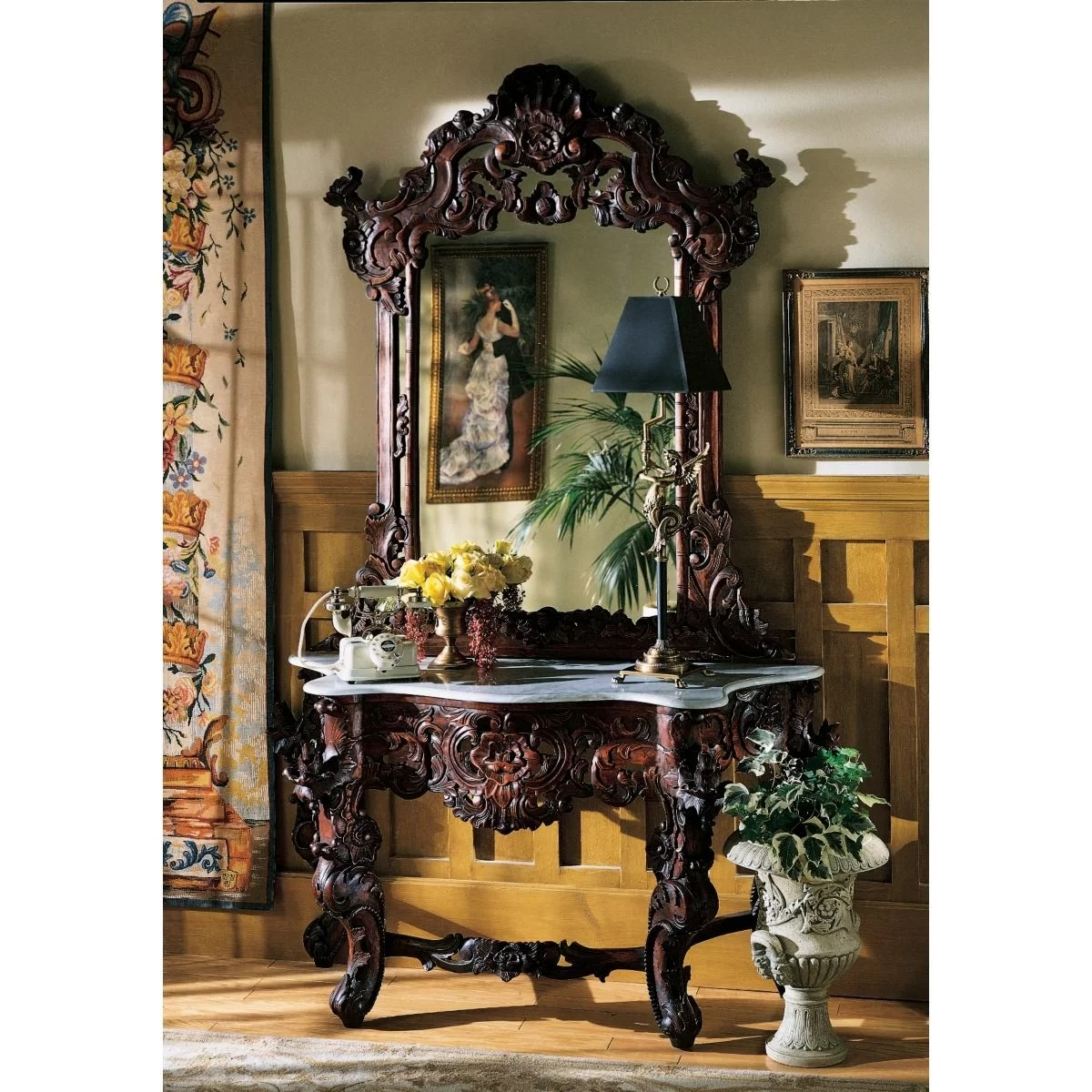 wayfair sofa reviews loveseat and difference design toscano hapsburg console table mirror set ...