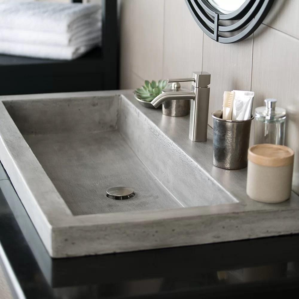 Native Trails Trough Stone Bathroom Sink  Reviews  Wayfair