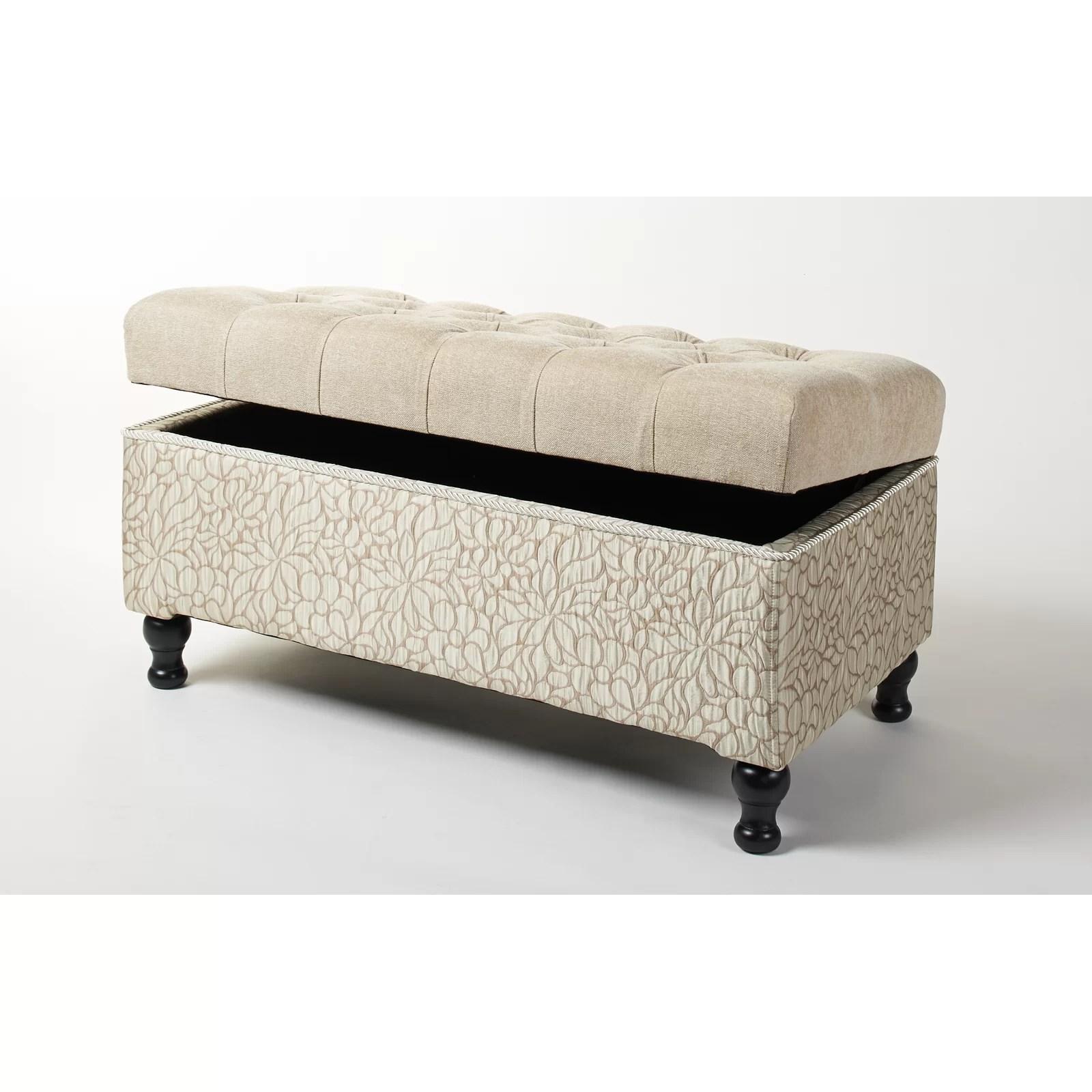 Jennifer Taylor Naomi Upholstered Storage Bedroom Bench