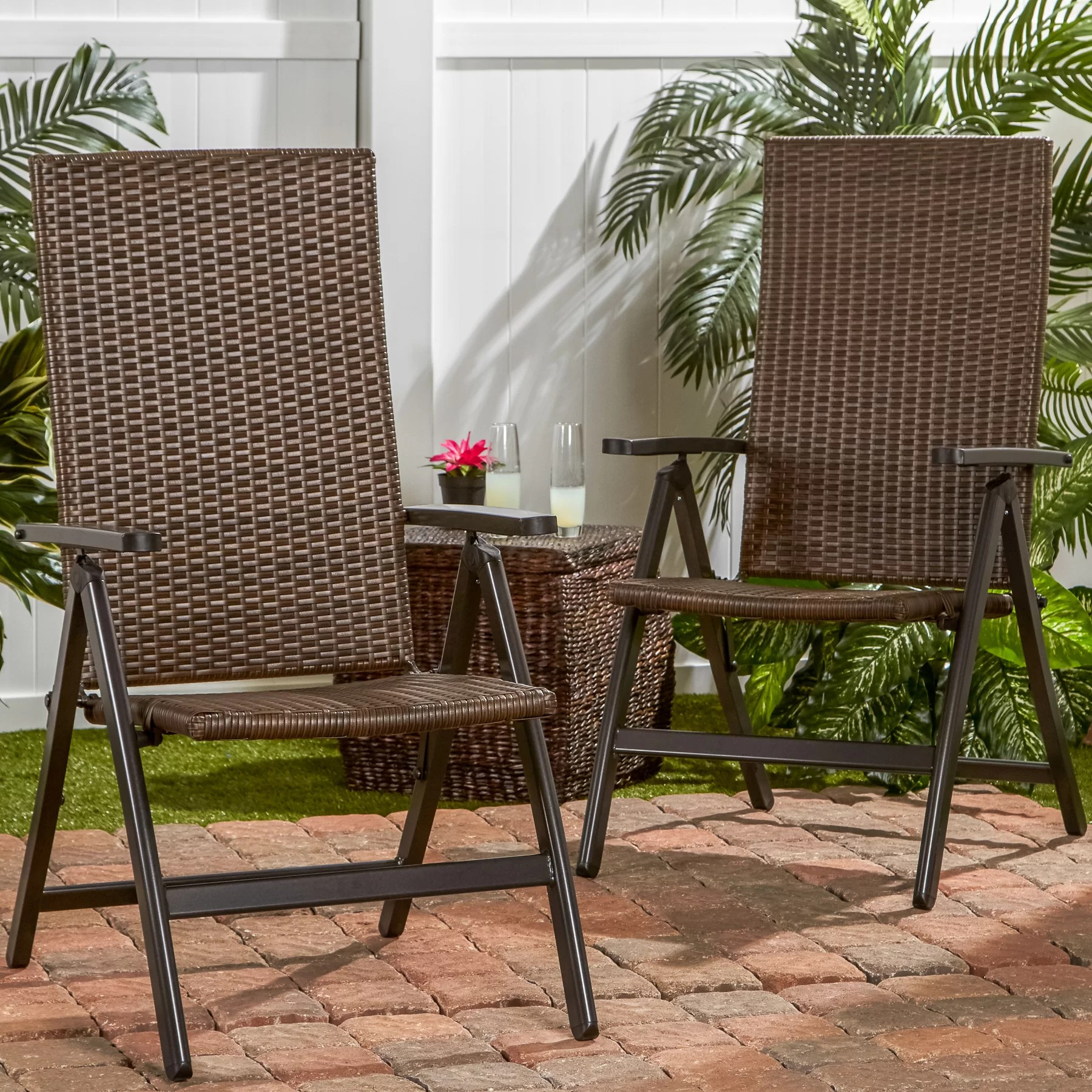 woven outdoor chair king chairs greendale home fashions wicker reclining zero