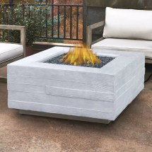 Real Flame Board Form Propane Outdoor Fire Pit Table
