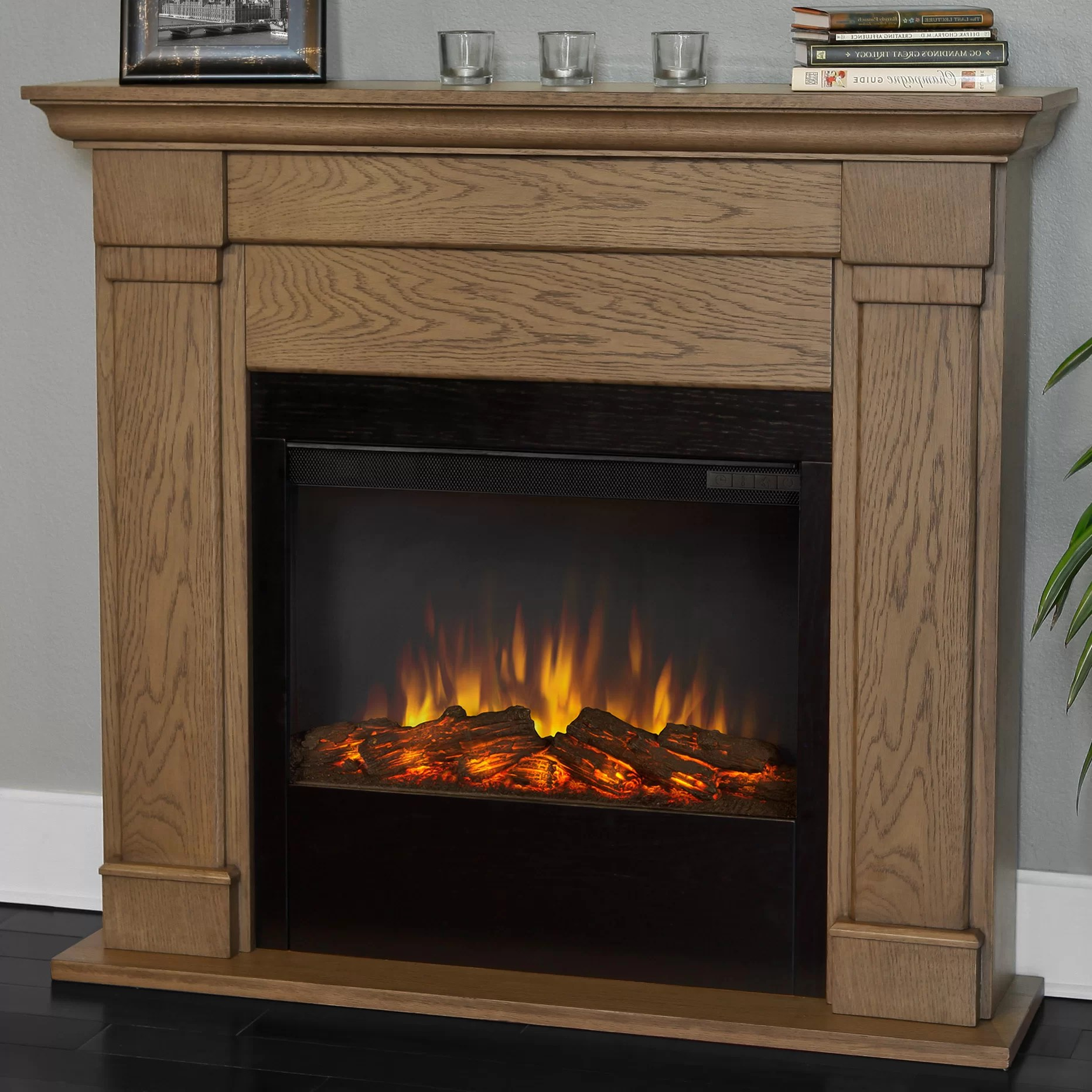 Real Flame Slim Lowry Wall Mount Electric Fireplace