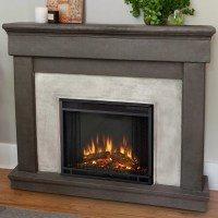 Real Flame Cast Mantel Cascade Electric Fireplace ...