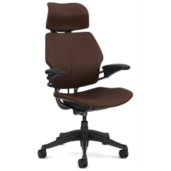 Office Chair Headrest Round Dining Table With Fabric Chairs Humanscale Freedom And Reviews