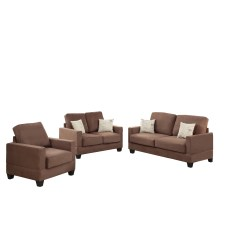 Poundex Bobkona Arcadia Sofa And Loveseat Set How To Clean A Stain Madison 3 Piece With