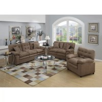 Poundex Bobkona Colona 3 Piece Living Room Set & Reviews ...