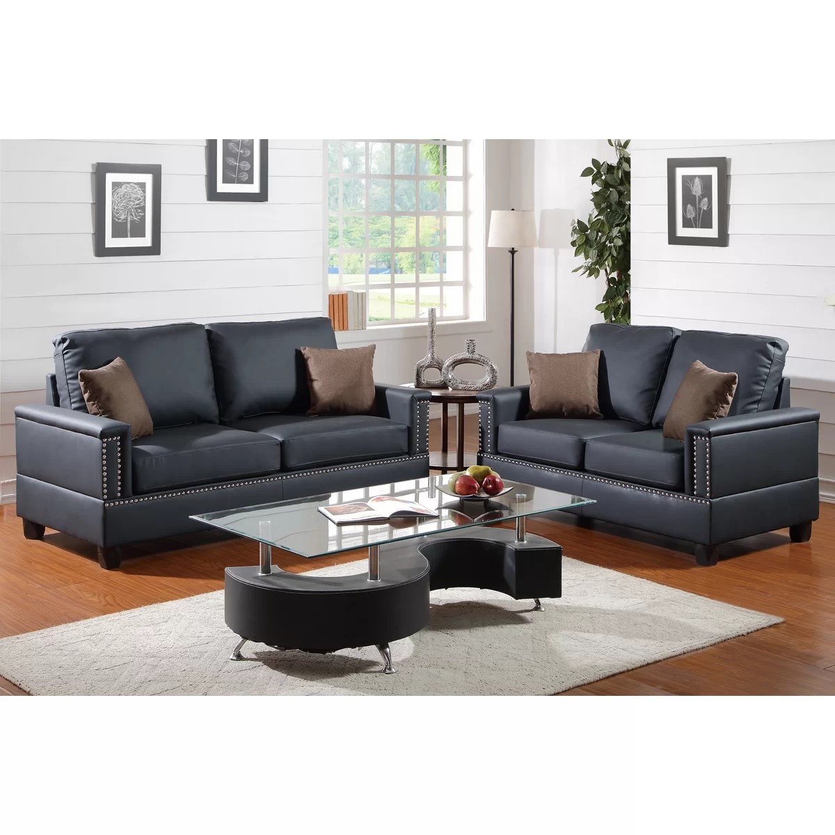 bobkona sectional sofa embly instructions latest wooden set design poundex norris 2 piece and loveseat
