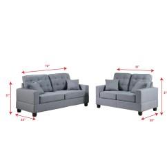 Poundex Bobkona Arcadia Sofa And Loveseat Set How To Clean My Cream Leather Aria Reviews Wayfair