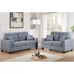 Poundex Bobkona Arcadia Sofa And Loveseat Set Dry Clean Covers At Home Aria Reviews Wayfair