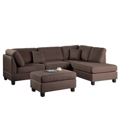 Reversible Sectional Sofa Chaise Fabric Set Designs India Poundex Bobkona Dervon