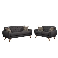 Bobkona Sectional Sofa Embly Instructions Cheapest Bed In Toronto Poundex Sonya 2 Piece And Loveseat Set