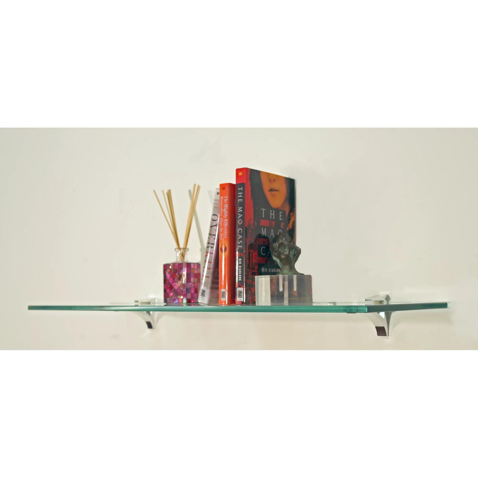 Spancraft Glass Floating Glass Bathroom Shelf  Reviews