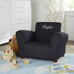 Children S Living Room Chairs High Back Accent Canada Keet Blue Denim Personalized Kids Club Chair And Reviews