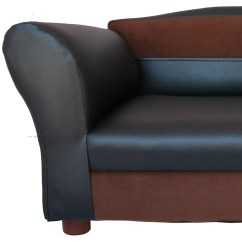 Mini Dog Sofa L Shaped Leather Sectional Keet Two Toned And Reviews Wayfair