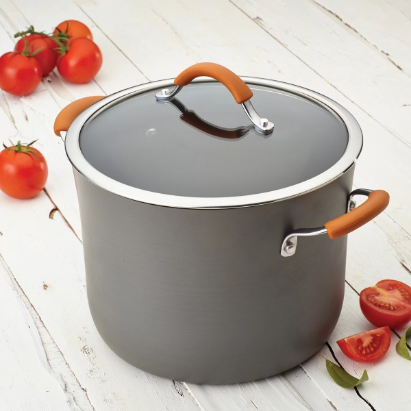 Rachael Ray Cucina 10 Qt. Stock Pot With Lid &