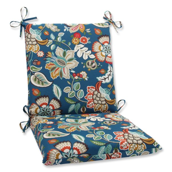 Pillow Perfect Telfair Peacock Outdoor Lounge Chair Cushion
