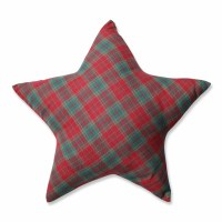 Pillow Perfect Plaid Star Throw Pillow & Reviews   Wayfair