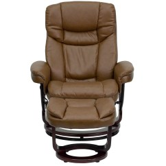 Modern Leather Chair And Ottoman Dye Upholstered Flash Furniture Contemporary Recliner