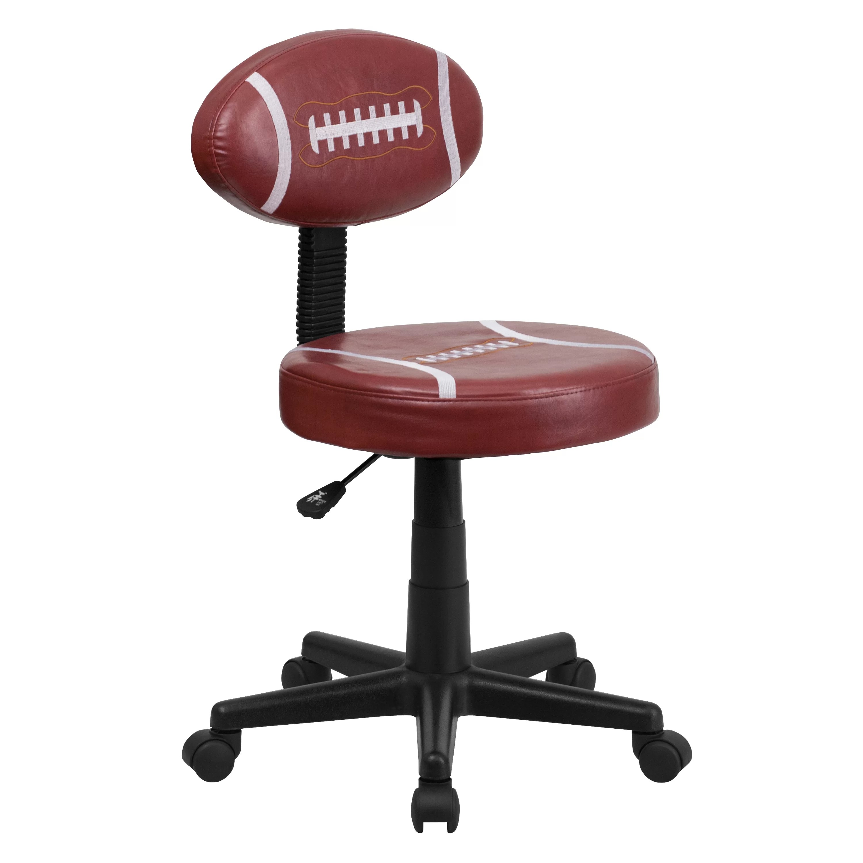 desk chair toddler bean bag beads flash furniture football mid back kids