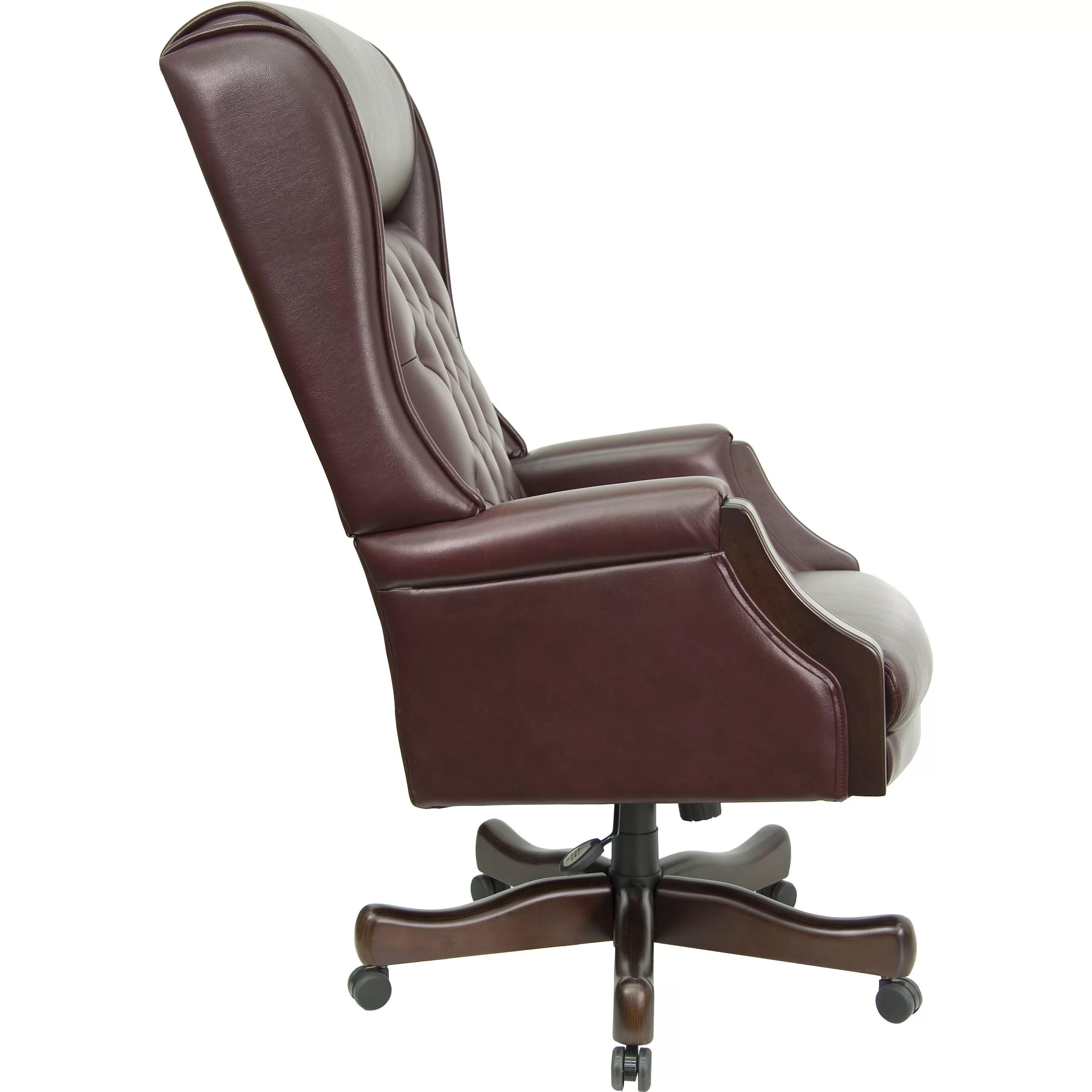 high back leather executive chair chesterfield flash furniture office