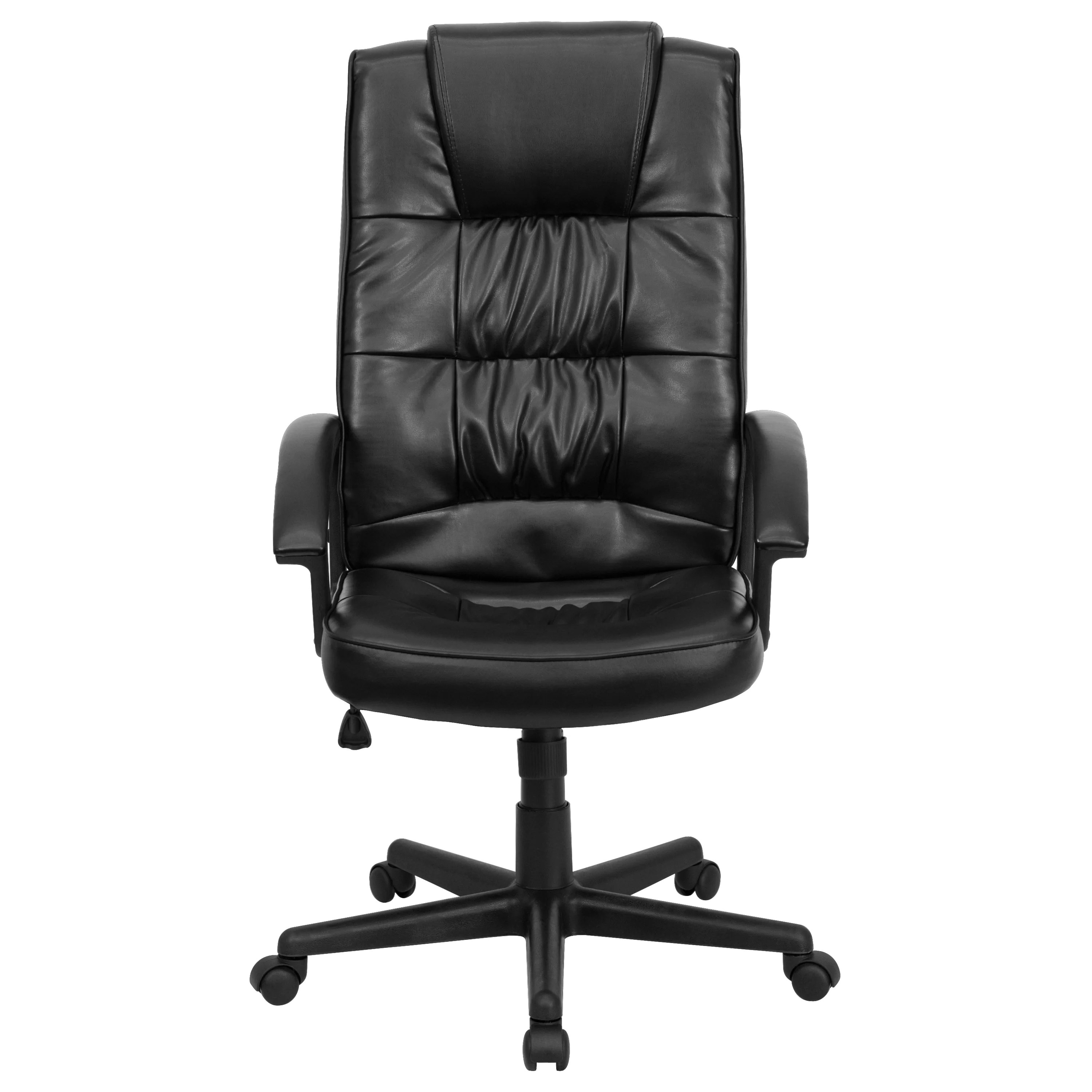 Flash Furniture HighBack Leather Executive Chair  Reviews  Wayfair