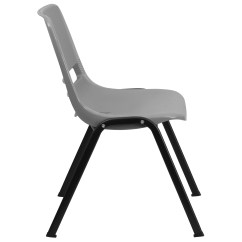 Ergonomic Visitor Chair Ikea Poang Weight Limit Flash Furniture Hercules Series Shell Stack
