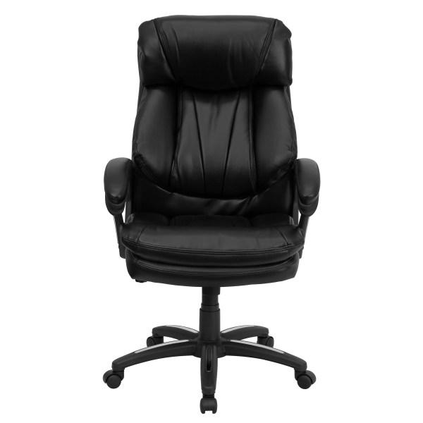 flash furniture high back executive leather office chair Flash Furniture Hercules Series High-Back Leather Executive Chair & Reviews   Wayfair