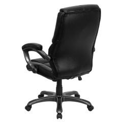 High Back Leather Executive Chair Foldable Quad Flash Furniture