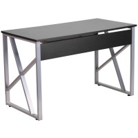 Flash Furniture Computer Desk with Pull-Out Keyboard Tray ...