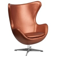 Flash Furniture Leather Egg Lounge Chair | Wayfair