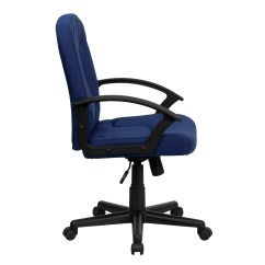 Cloth Office Chairs Posture Stool Flash Furniture Mid Back Fabric Chair With Nylon