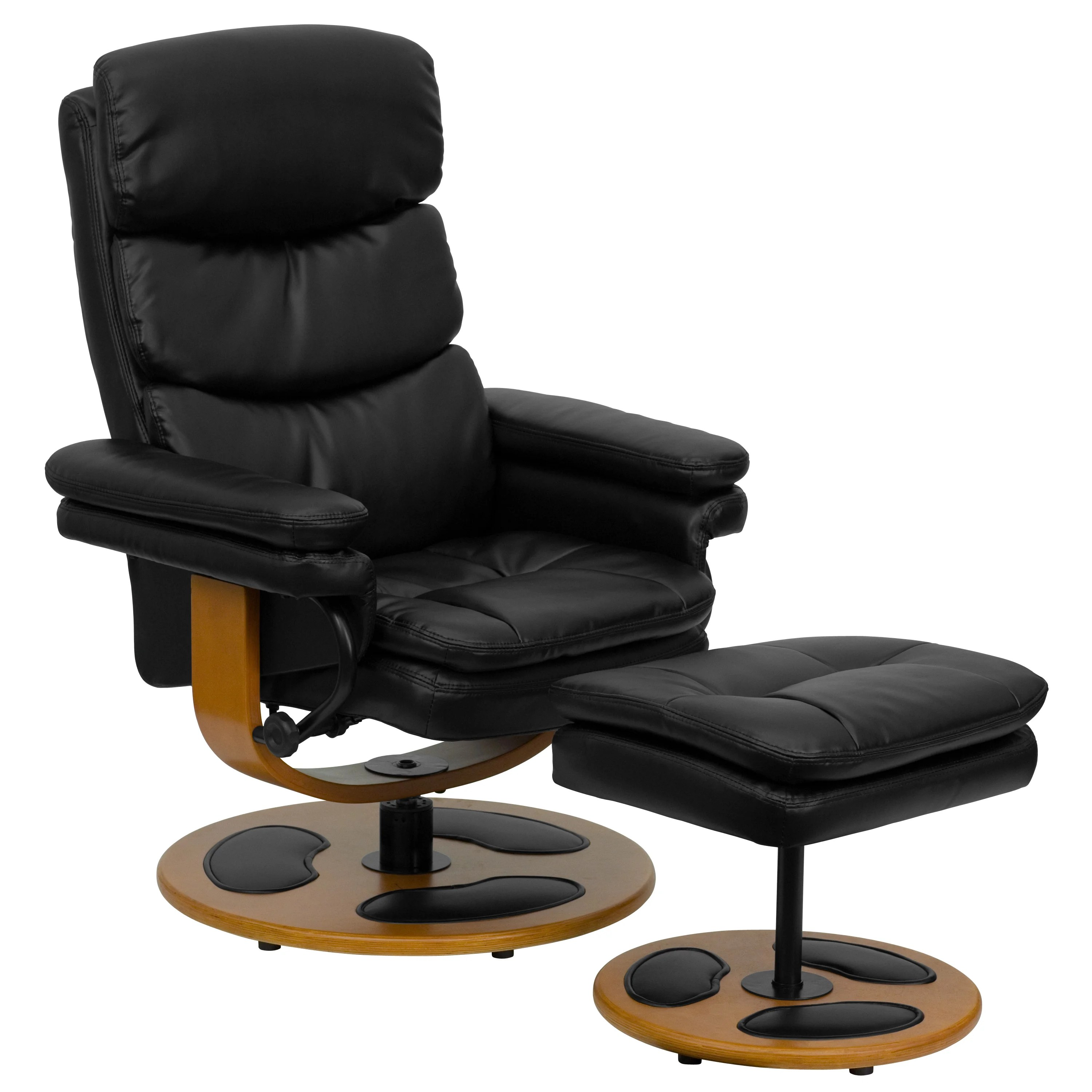 modern leather chair and ottoman desk ergonomic kneeling flash furniture contemporary club recliner