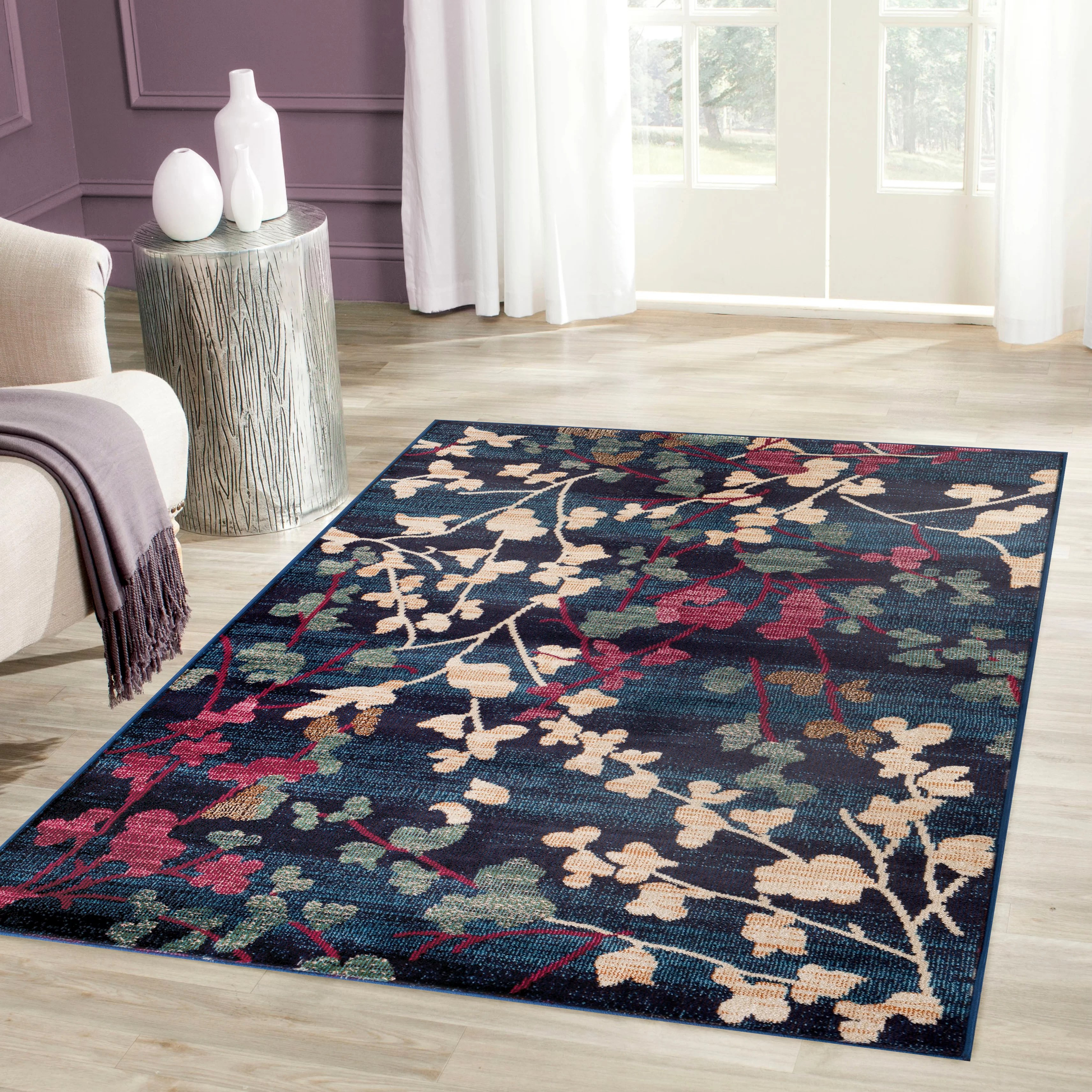 World Rug Gallery Loft Navy Area Rug  Reviews  Wayfair
