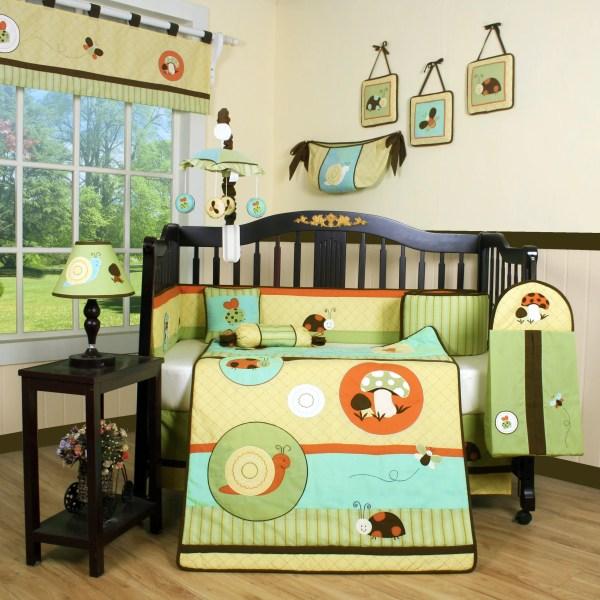Geenny Boutique Garden Paradise 13 Piece Crib Bedding Set &