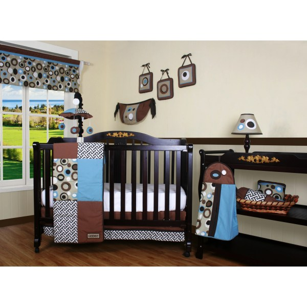 Geenny Boutique Scribble 13 Piece Crib Bedding Set