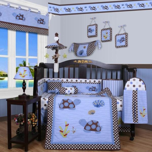 Geenny Boutique Sea Turtle 13 Piece Crib Bedding Set &