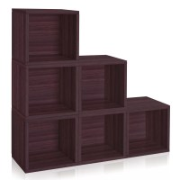 "Way Basics zBoard Storage Box 15"" Cube Unit Bookcase ..."