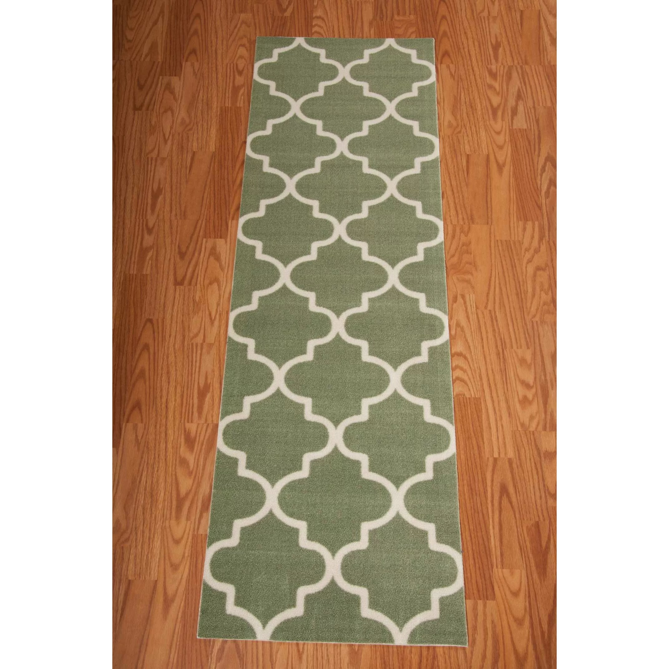 Waverly Sun n Shade Moss IndoorOutdoor Runner Rug