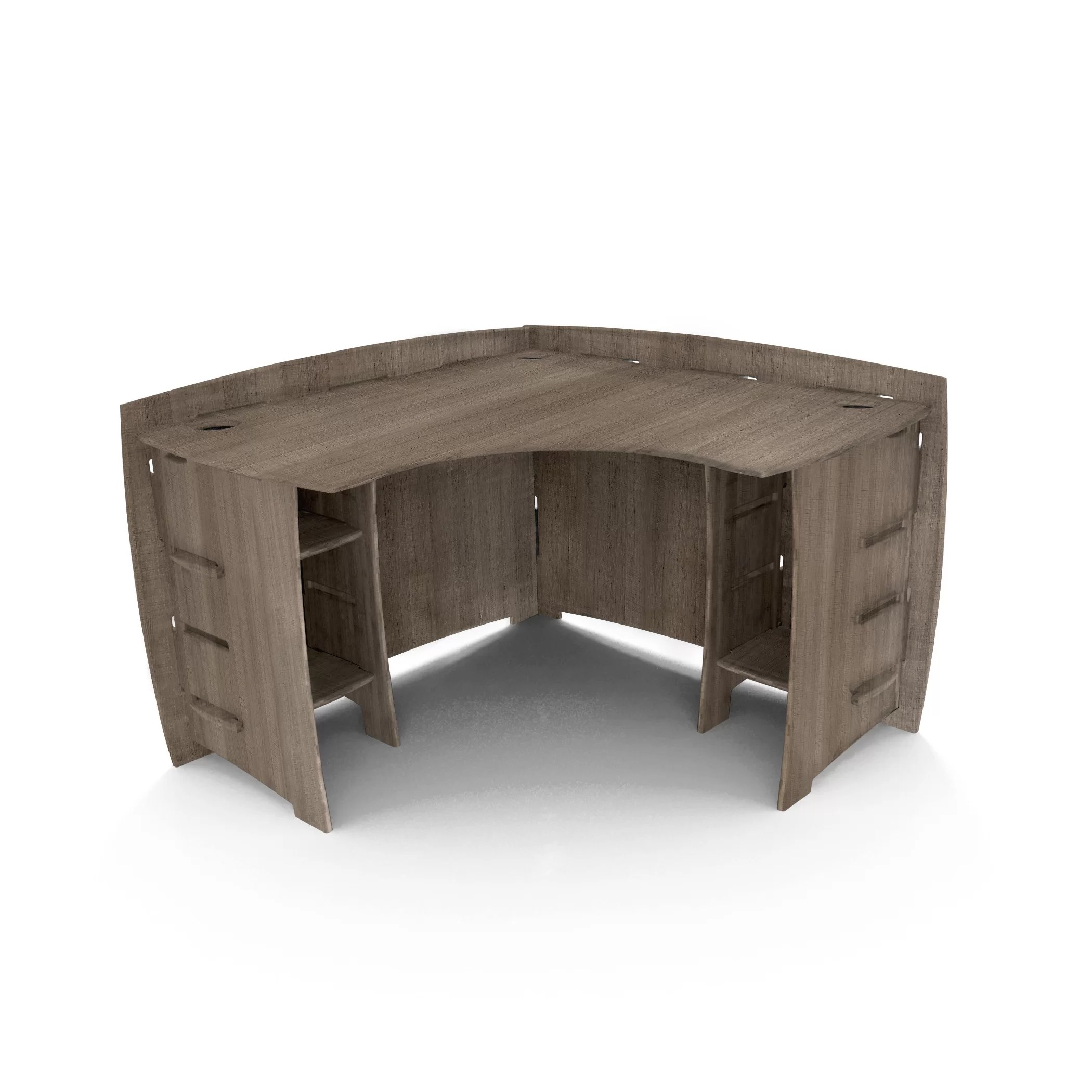 Legare Furniture Driftwood 47quot Corner Executive Desk