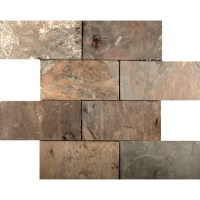 Emser Tile Slate Mosaic Tile in Rustic Gold & Reviews ...
